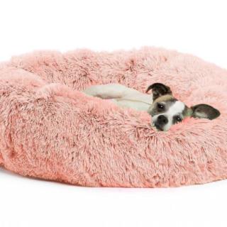 Cucce - Cuscini Cani & Gatti Cuccia Antistress Rosa Diametro Cm. 60 H25