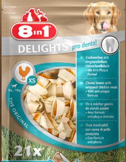 Snack Per Cani - 8in1 Delights Pro Dental Bone XS Pezzi 21 GR.252