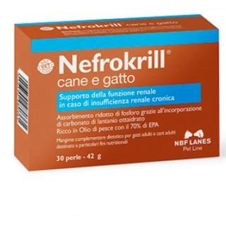 Integratori-Curativi Cane & Gatto - NBF LANES Nefrokrill Perle 30
