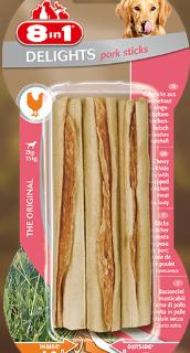 Snack Per Cani - 8in1 Delights pork sticks Pezzi 3 gr.75