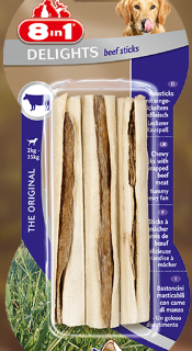 Snack Per Cani - 8in1 Delights Beef Sticks Pezzi 3 gr.75