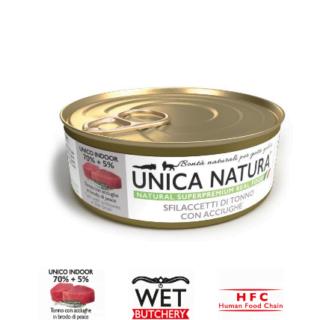Alimento Umido Gatto - Unica Natura - Sfilaccetti di Tonno con Acciughe - Adult UNICO INDOOR Gr.70