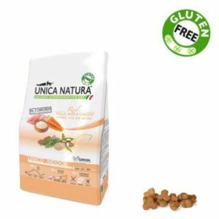 Alimento Secco Gatto UNICA NATURA – Unico Indoor – Pollo, Riso e Carote Kg. 1.5