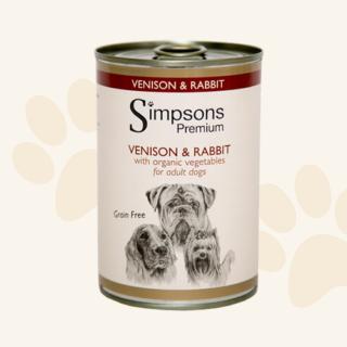 Alimento Umido Cane - Simpsons Cervo E Coniglio Con Verdure Biologiche Gr. 400